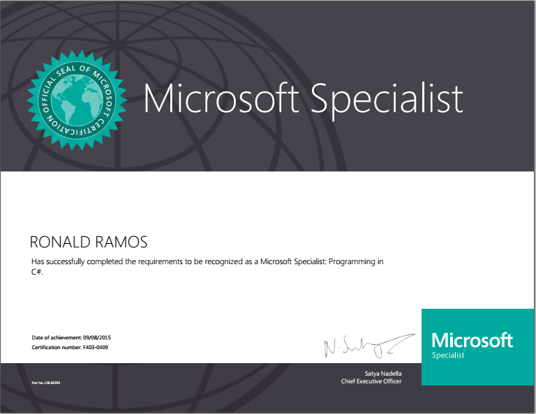 I passed the Microsoft Exam 70-483: Programming in C# | 60-Second ...